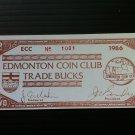 Canada Fantasy Banknote - Edmonton Coin Club Bucks 1986