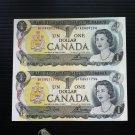 Canada Banknote - BC-46b - $1.00 - Uncut pair from full sheet BFK prefix