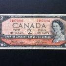 Canada Banknote - BC-38a - $2.00 - 1954 $2.00 modified Portrait