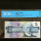 Canada Banknote - BC-56aA-I $5.00 Graded 1986 Replacement note - Blue B.P.N.  Imprint - a rare note