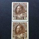 Canada Stamp - 134 - Coil Pair F-VF Hinged - Die break