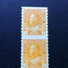Canada Stamp - 126a - Coil Pair Imperf between VF Mint hinged