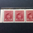 Canada Stamp -249c, 252b, and 254b - 3 Booklet panes - All VF NH