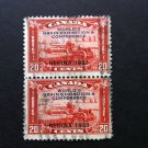 Canada Stamp -203 - Used Pair one with Broken X variety
