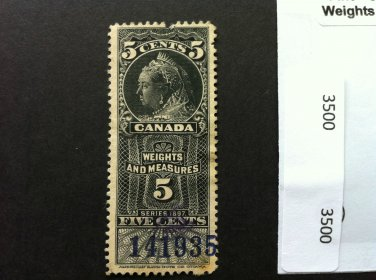 Canada Stamp -BOB - Used Weights and Measures, Electric, Gas Inspection