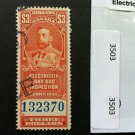 Canada Stamp -BOB - $3.00 Electricity and Gas Inspection stamp Used