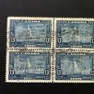 Canada Stamp -216i - Shilling Mark Block of 4 used - A rare variety find