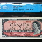 Canada Banknote - BC-38b - 1954 $2.00 Graded Solid Radar 1111111 note.  Outstanding Gem item