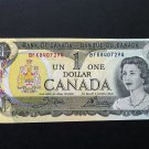 Canada Banknote - BC-46b - $1.00 - 1973 Issue 3 letter prefix BFK