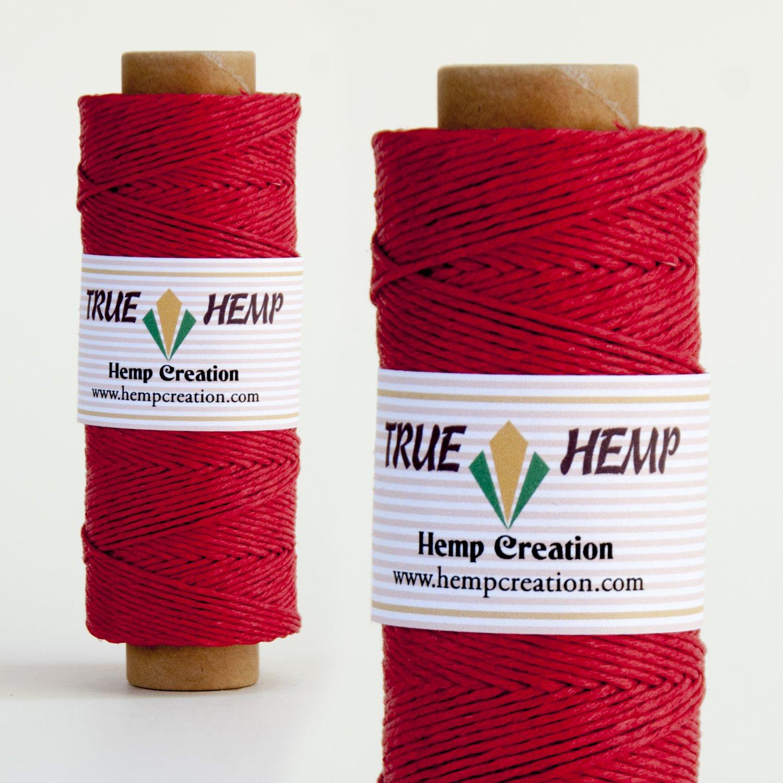TRUE HEMP spool - RED - 1mm diameter 20lb - 205feet/62m - 50gram