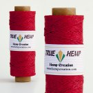 TRUE HEMP spool - RED - 1mm diameter 20lb - 205feet/62m - 50gram