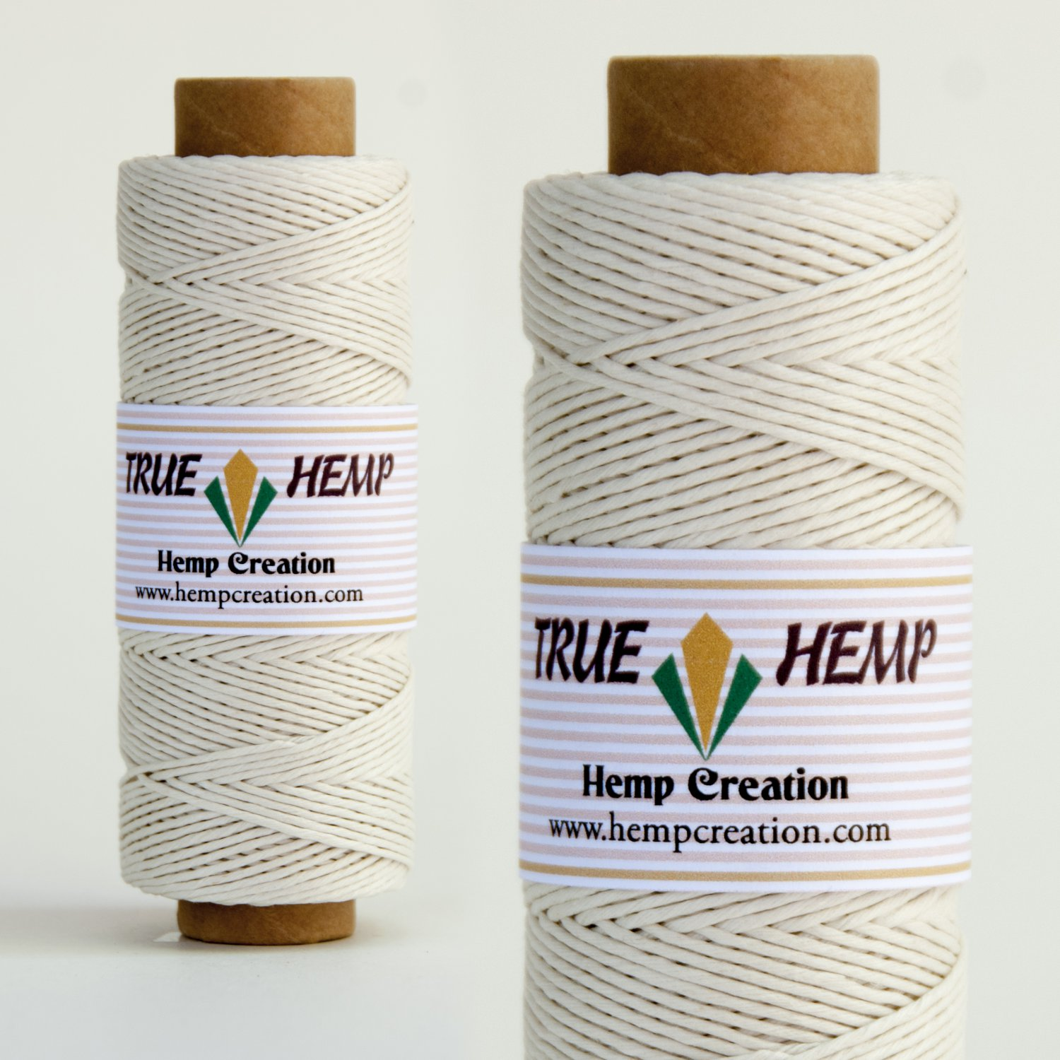 TRUE HEMP spool - WHITE - 1mm diameter 20lb - 205feet/62m - 50gram
