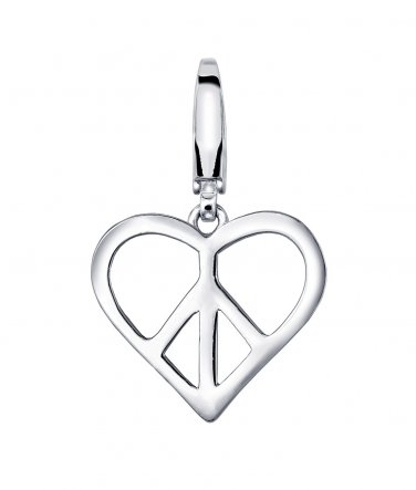 925 Silver Love Heart Charm, Girlfriend Women Girl Gift C05194J