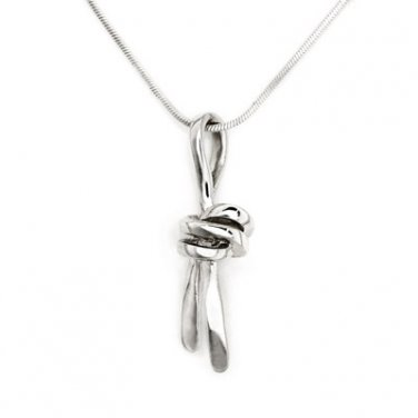 "Silversmith 925 Sterling Silver Infinity Love Knot Necklace 16"" Valentine Jewelry Gift Q20030N"