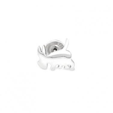 925 Sterling Silver Polished Scottie Dog Puppy Single Stud Earring Fashion Jewelry Teen C05699L