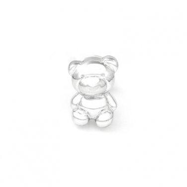 U.S. Only - 925 Sterling Silver Teddy Bear Single Stud Earring Fashion Jewelry Girl C05850L