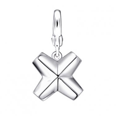 925 Silver Platinum Plated Cross Charm Gift  C05371J