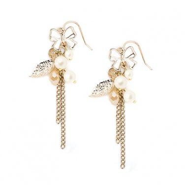 The Happiness Collection - Shining Butterfly Elegant Bow Knot Drop Style Women Stud Earrings C06355E