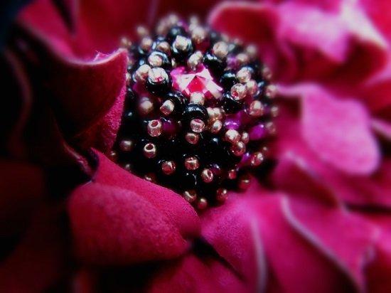"""Handmade brooch """"Fuchsia peony"""""""