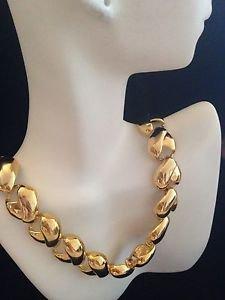 Ann Klein Gold Tone Link  Necklace