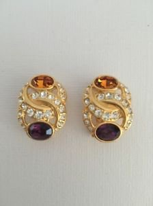 Nolan Miller Dazzling Interlooping Rhinestone Earrings