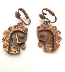Rebajes Vintage Copper Horse Head Earrings
