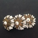 1940's Unsigned Miriam Haskell Beaded Flower Brooch