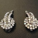 HOBE  Vintage Rhinestone And Smokey Grey Crystal Earrings..Stunning