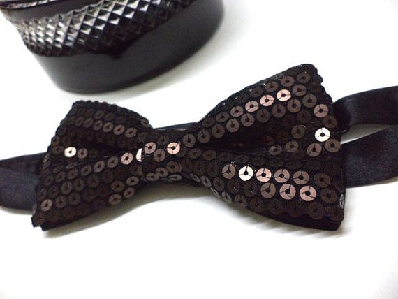 Brown / Bronze ,Copper colour Sequin Bow tie, Men, party, wedding,pre-tied