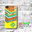 wood iPhone 5 case, geometric iphone 5 case, Monogram iphone 5 case