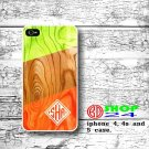 Lime Green wood iPhone 4 4s case, art wood case iphone 4 4s case, Green chevron iPhone case