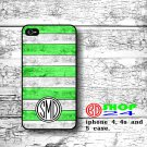 Wood Monogram iPhone 5 case, personalized iphone 5 case, Green wood iphone 5 case