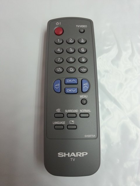 COMPATIBLE REMOTE CONTROL FOR SHARP TV RRMCG1559SA RRMCGA381WJSA C15S4US