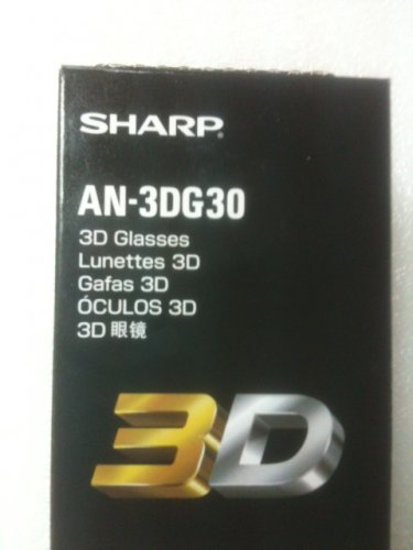 Original 3D Active Shutter Glasses for SHARP TV AN-3DG30 AN-3DG20-EL