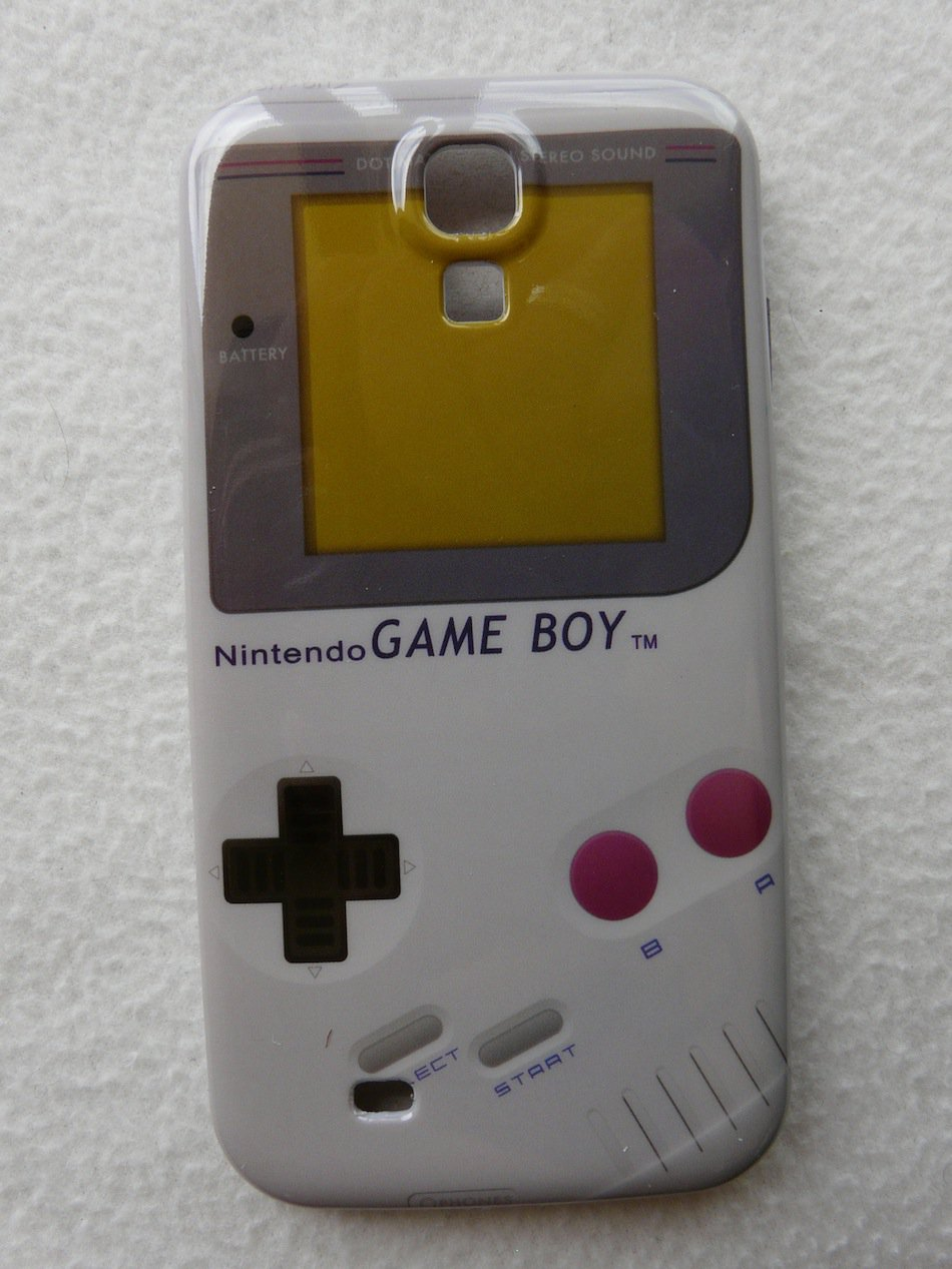 SAMSUNG GALAXY S4 HARD COVER CASE GLOSSY GAMEBOY