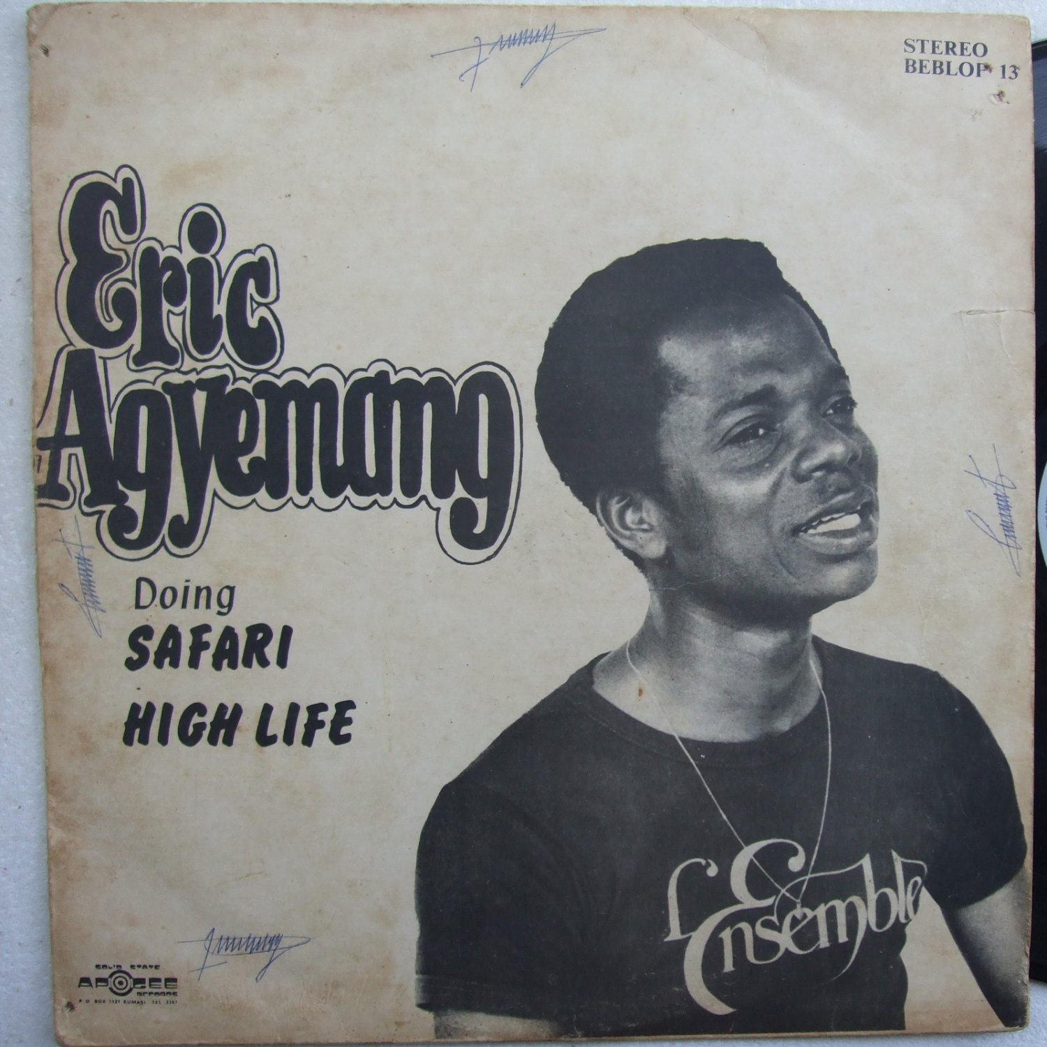 ERIC AGYEMANG highlife safari DANCEFLOOR HIGHLIFE SOUKOUS LP