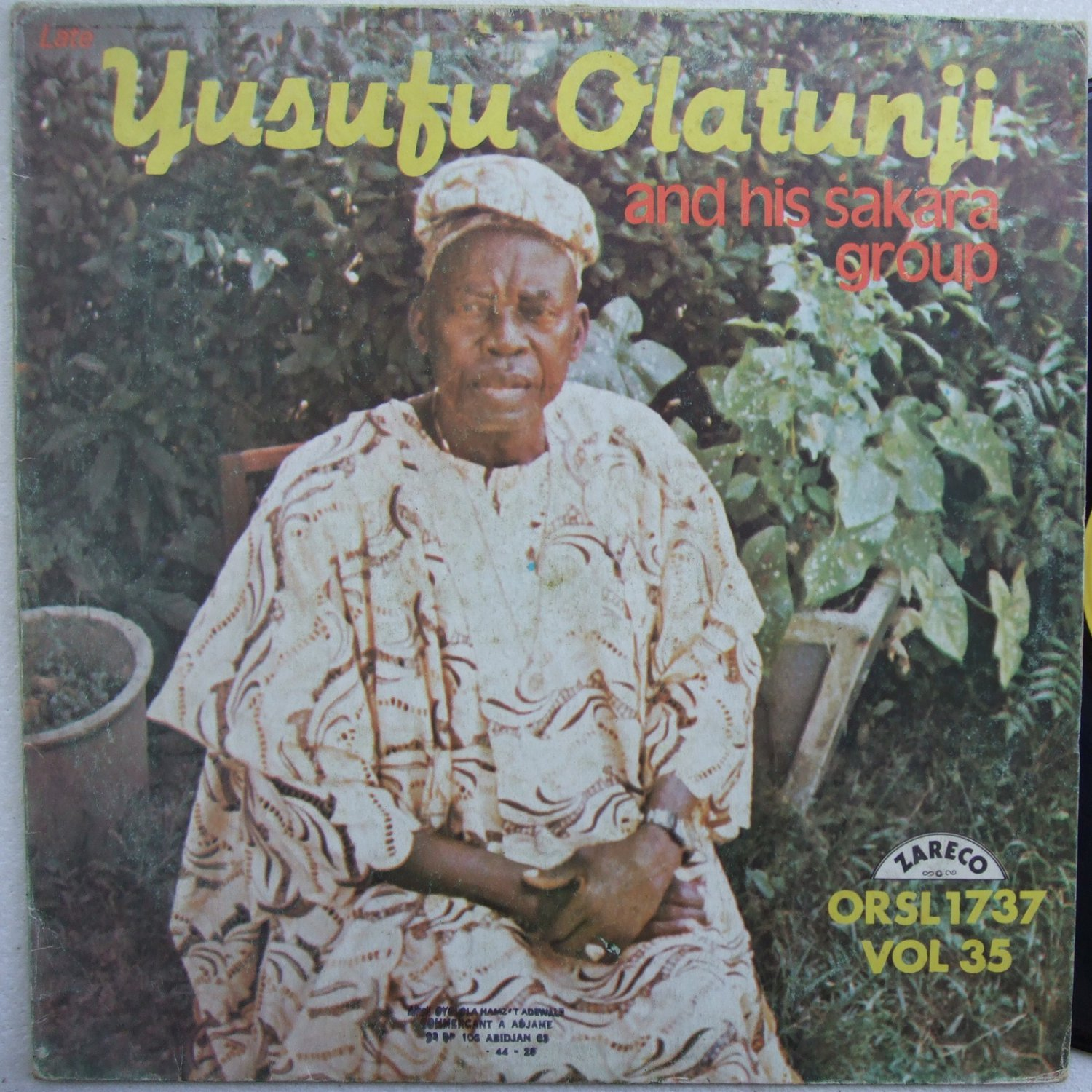 YUSUFU OLATUNJI & HIS SAKARA GROUP vol35 JUJU NIGERIA LP