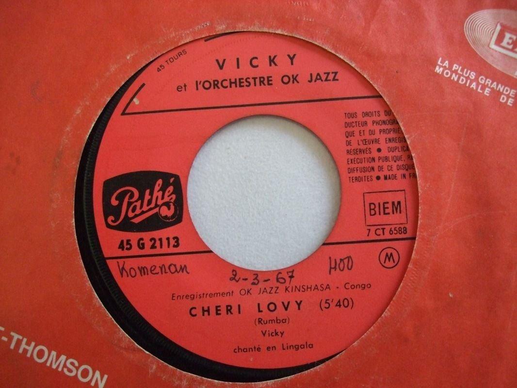 "VICKY & ORCH OK JAZZ cheri lovy RUMBA AFRO LATIN 7"" � mp3 listen"