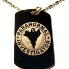 Military Dog Tag Metal Chain Necklace - Paranormal Ghost Pi Investigator Seal