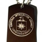 CIA Central Intelligence Military Agency Seal - Dog Tag w/ Metal Chain Necklace