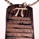 Military Dog Tag Metal Chain Necklace - Math Mathematics Pi Pie 3.14159 Novelty