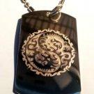 Dragon YIN Yang Tribal Chinese Asian Logo - Dog Tag w/ Metal Chain Necklace