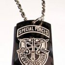 US Armed Forces De Oppresso Liber Seal  - Dog Tag w/ Metal Chain Necklace