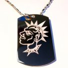 Military Dog Tag Metal Chain Necklace - Punk Rocker Dog Collar Spiked Hair Dude