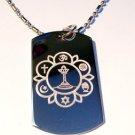 Military Dog Tag Metal Chain Necklace - Unitarianism - Hindu, Christian, Judaism