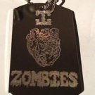 Novelty I Heart Love Zombies Zombie Logo  - Dog Tag w/ Metal Chain Necklace