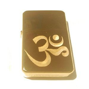 Vector Custom Engraved Butane Lighter - Aum Om Zen Hindu Religious Symbol