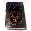 Vector Custom Engraved Butane Lighter - Biohazard Kanji Japanese Zombie Outbreak