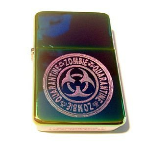 Vector Custom Engraved Butane Lighter - Biohazard Toxic Seal Zombie Quarantine