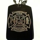 Fire Department Figherfighter Seal - Dog Tag w/ Metal Chain Necklace